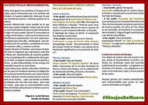 Programa corpus 2015 Hinojos